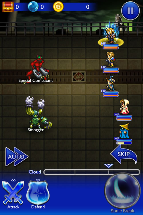 Final Fantasy Record Keeper Battle
