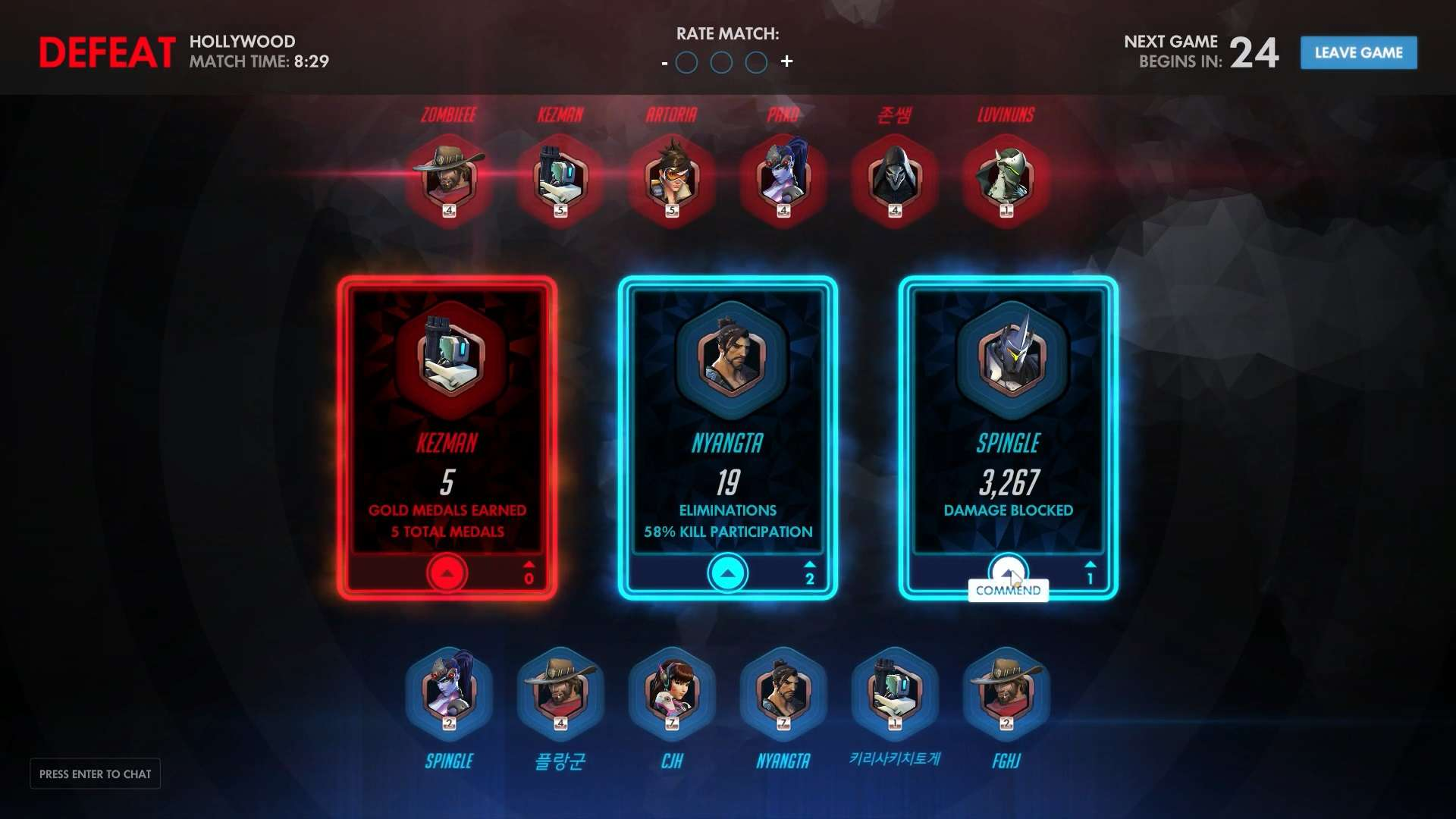 Overwatch Commendations