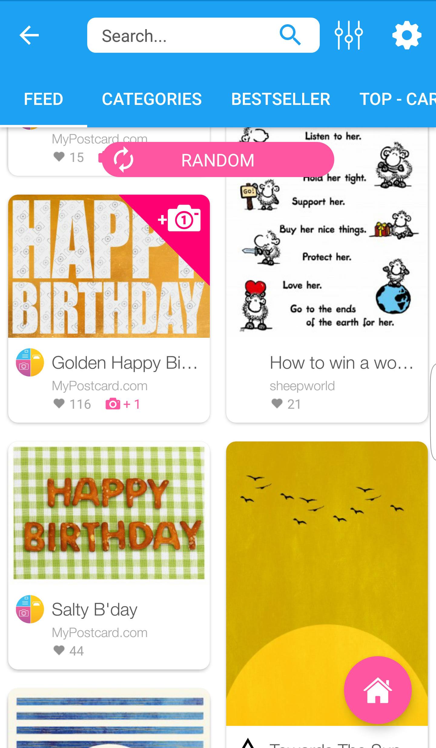 MyPostcard App Designs
